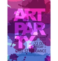 Art party poster vector