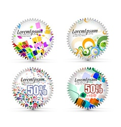 Sale tags design vector