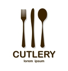Cutlery brown vector