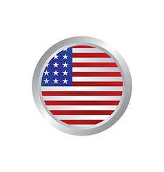 Glossy theme america national flag vector