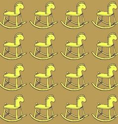 Sketch horse rocking toy vector image