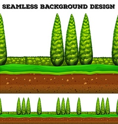 Seamless background with trees in the park vector