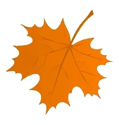 Autumn Maple Leaf Low Poly vector image
