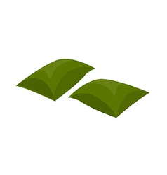 A view of a cushion vector