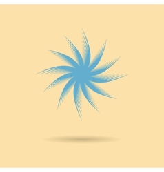 abstract icon tumbleweed with shadow vector image