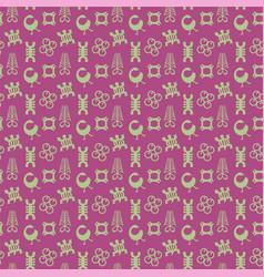 Adinkra symbols pattern vector