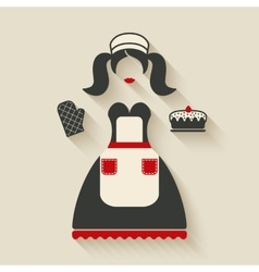 Baking concept girl with pie vector