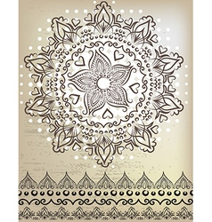 Beautiful mandala Lace and patterns vector image vector image