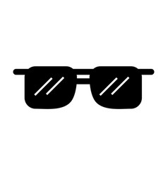 Black icon sunglasses cartoon vector