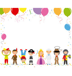 children disguised for a party vector image vector image