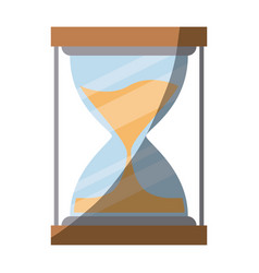 Colorful silhouette of sand clock with half shadow vector