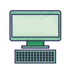 computer keyboard device technology digital vector image