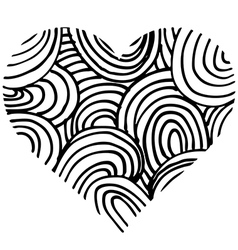 Doodle heart shaped 5 vector