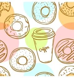 Hand drawn donut vector