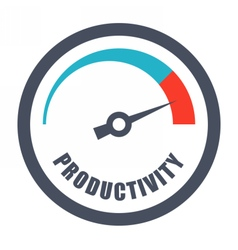 Increase Productivity Concept vector image vector image
