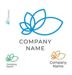 modern contour flower logo identity brand icon vector image