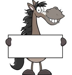 New year horse cartoon vector image vector image