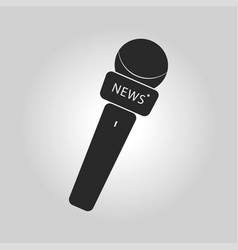 News microphone icon with simple button and vector