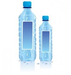 plastic water bottles vector image