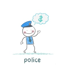 Police think about the money vector