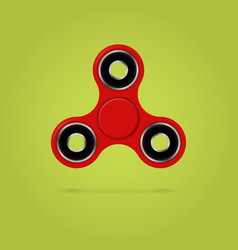 Red fidget spinner stress relieving toy 3d vector