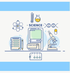 science colorful concept header vector image