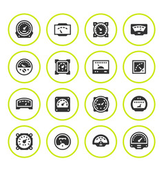 Set round icons of meter vector
