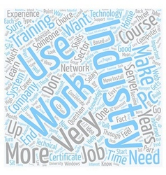 So you want to work in the it industry text vector