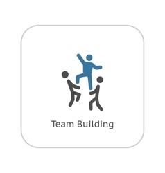 Team building concept icon flat design vector
