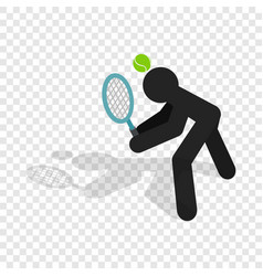Tennis returner isometric icon vector
