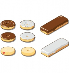 various donuts vector image vector image