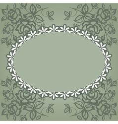 vintage frame roses vector image