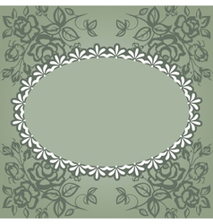 vintage frame roses vector image vector image