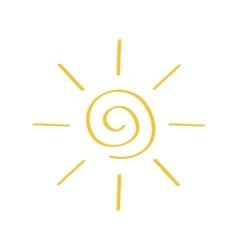 Yellow spiral sun shining sign symbol Swirl shape vector image vector image