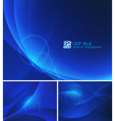 Deep blue abstract background vector