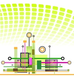 Hi-tech technology background vector