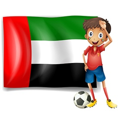 The uae flag and the male athlete vector