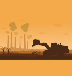silhouette of bad environment with clean forest vector image