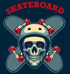 Skull of skater vector