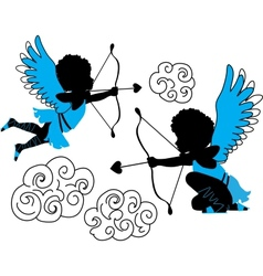 Cupids collection vector image