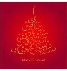 Christmas tree scroll vector