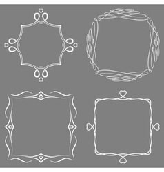 Set of nice decorative frames vector