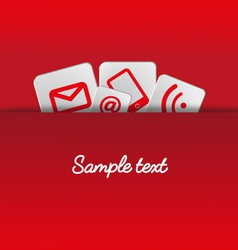 Icons background pocket template red vector