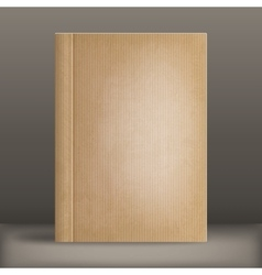 Grunge blank book cover vector