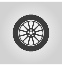 The tire icon wheel symbol flat vector