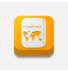 Square button passport vector