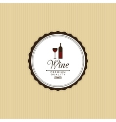 Delicious wine label vector