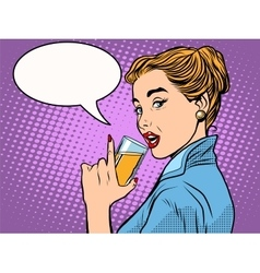 Girl alcoholic drink vector