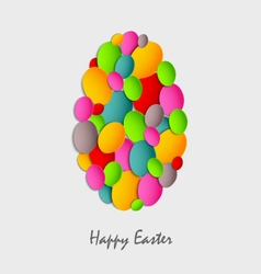 Easter card with abstract colored eggs vector
