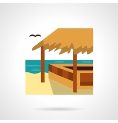 Bungalow bar flat color design icon vector